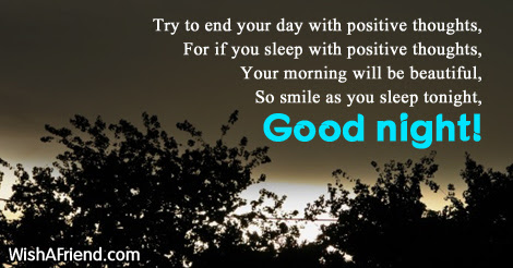 Try To End Your Day With Good Night Message