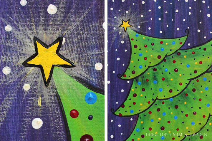 Best Canvas Painting Collection Easy Christmas Tree