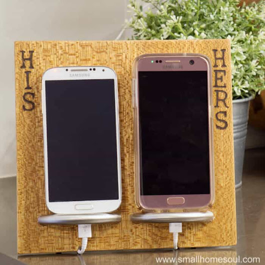 His & Hers Phone Charging Stand - Easy DIY Gifts for Handmade Holidays 2017 - Small Home Soul