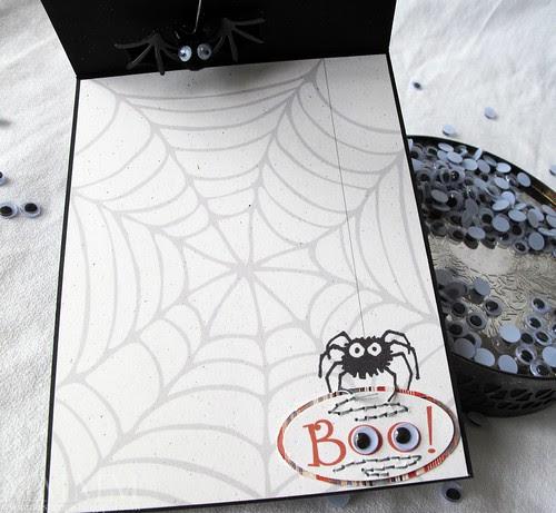 bat window card Hero Arts inside
