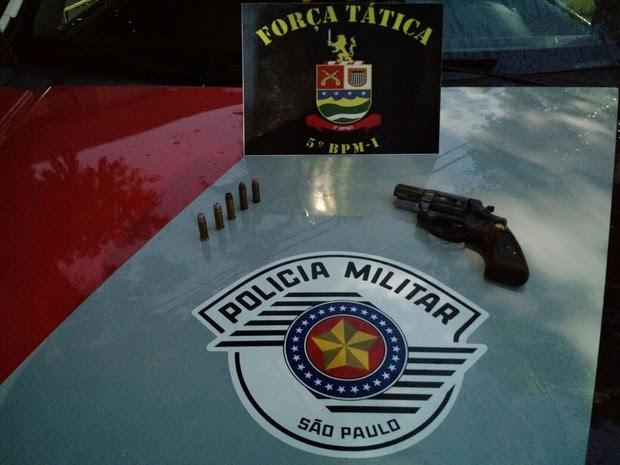 Adolescente é detido suspeito matar homem com cinco tiros em Taubaté  (Foto: Divulgação/ Polícia Militar)