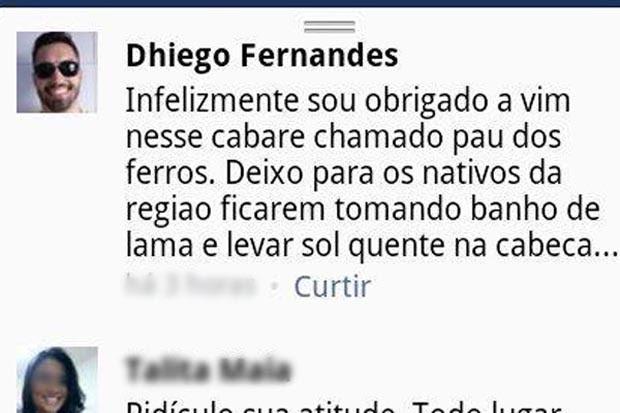 Professor postou ofensas à Pau dos Ferros nas redes sociais (Foto: Reprodução/Facebook)