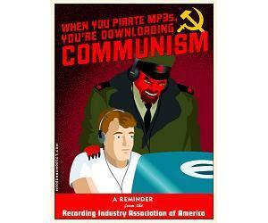 downloading mp3s = communism