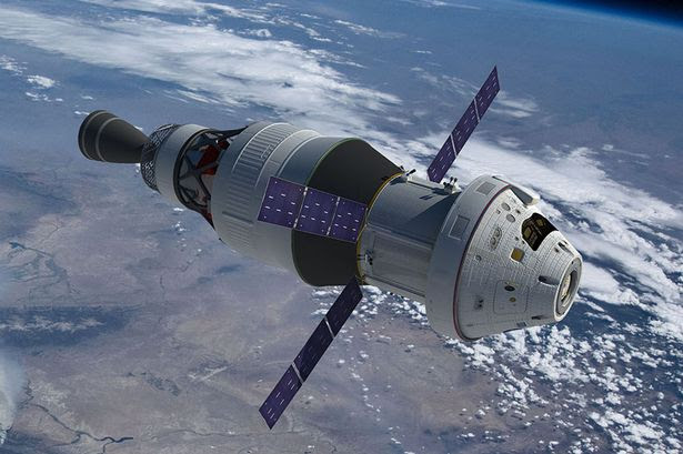 Artist concept of the Orion spacecraft