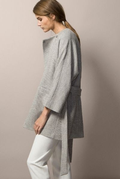 Belted Textured Coat