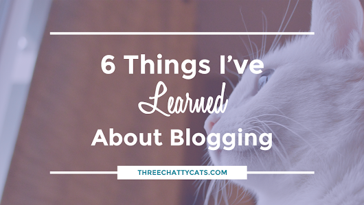 6 Things I've Learned About Blogging | Three Chatty Cats