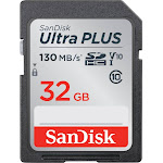 SanDisk - Ultra PLUS 32GB SDHC UHS-I Memory Card