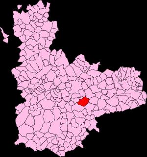 Localización de Aldeamayor de San Martín en la provincia de Valladolid