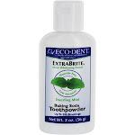 EcoDent ExtraBrite Baking Soda Toothpowder Dazzling Mint 2 oz.