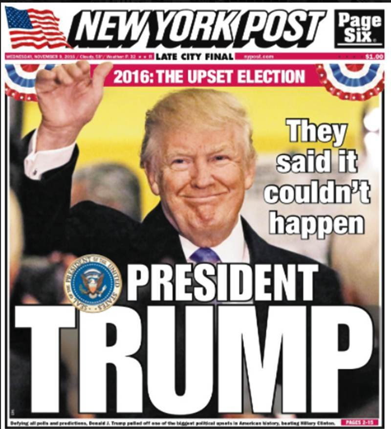Trump's 'House of Horrors' and other election front pages ...