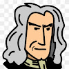 Isaac Newton Cartoon Drawing