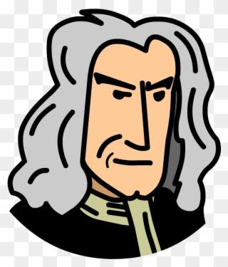 Sir Isaac Newton Cartoon Drawing