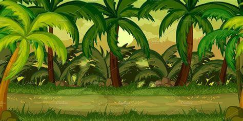 Jungle Game Background ~ Illustrations ~ Creative Market