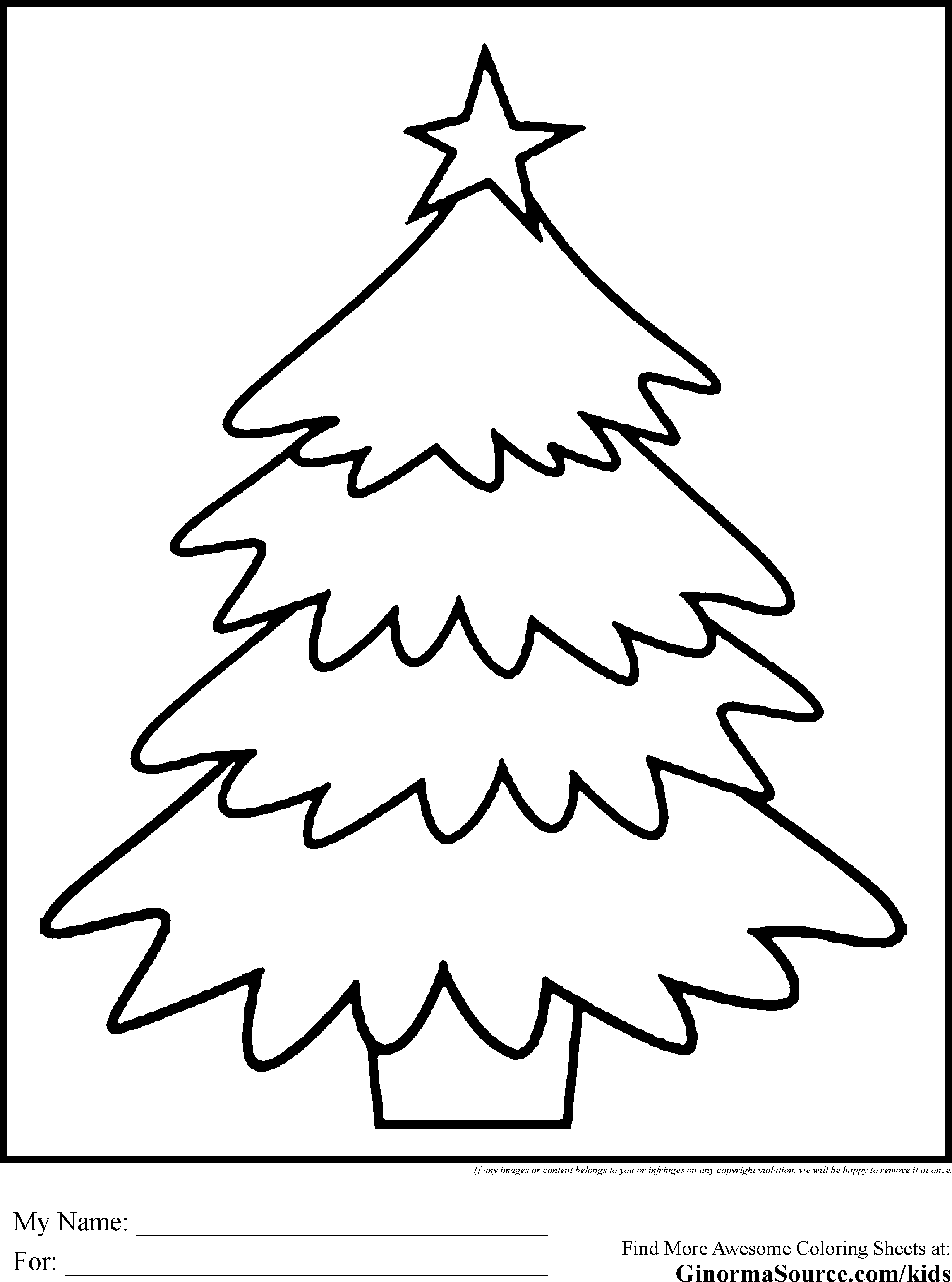 600 Top Coloring Sheets Christmas Tree , Free HD Download