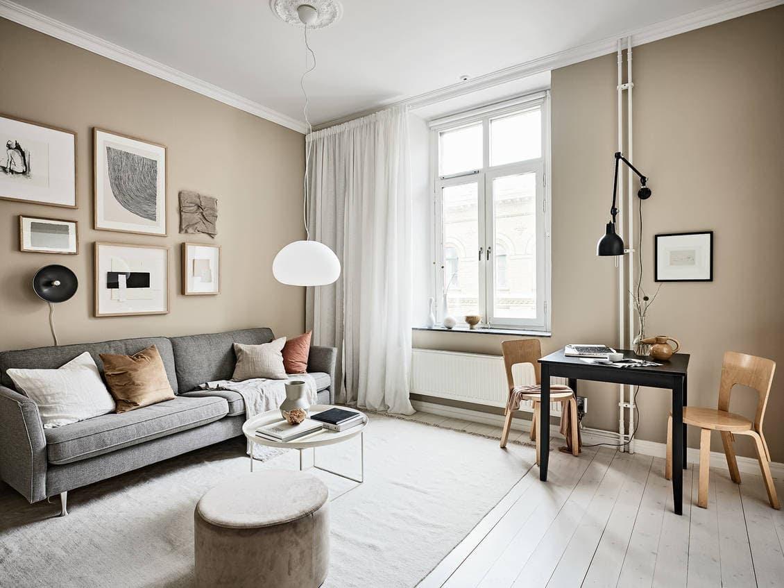 Small studio with beige walls - COCO LAPINE DESIGNCOCO ...