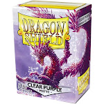 Card Supplies Dragon Shield Matte Clear Purple Standard Card Sleeves [100 ct]