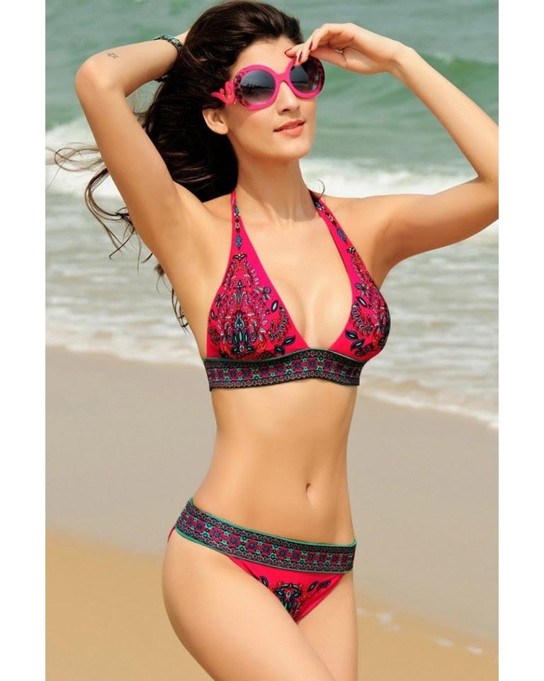 roseswims women sexy bikini set bandeau triangle push up bra swimsuit beachwear swimwear
