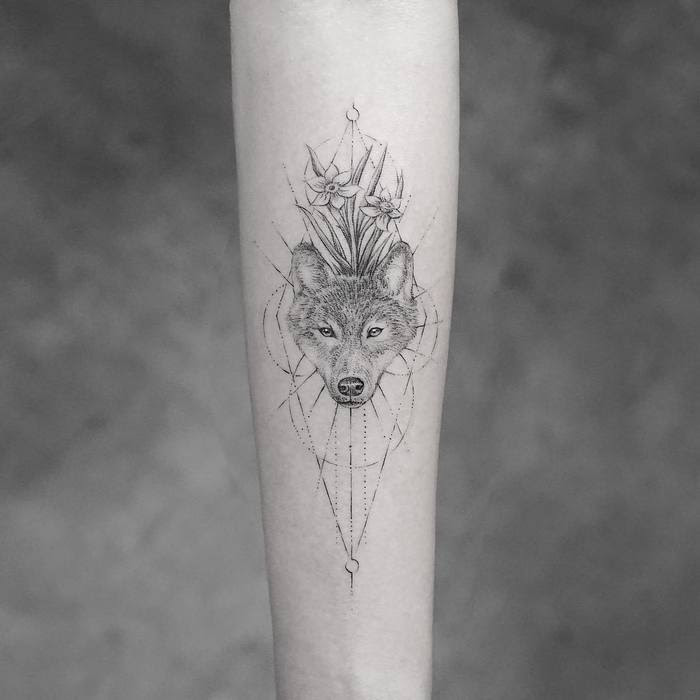 Wolf Flower Tattoo Kayaflowerco