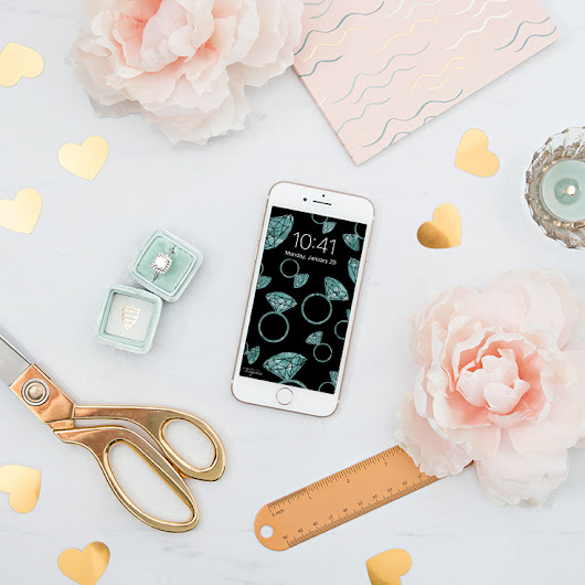 Free iPhone Wallpapers For The Newly-Engaged Bride!