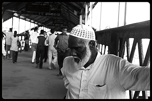 The Blind Beggar Bandra Station Bridge by firoze shakir photographerno1