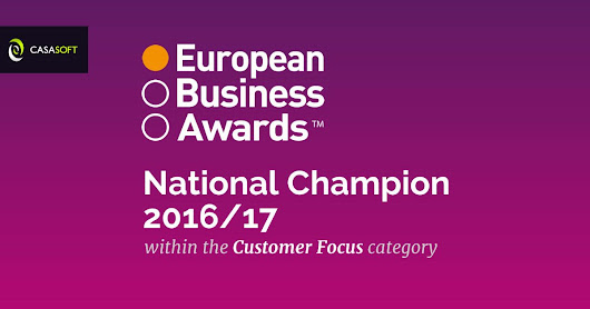 CasaSoft European Business Awards National Champion 2016/17 Customer Focus Category