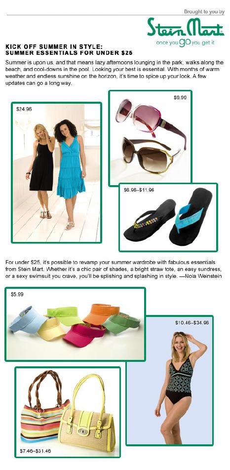 Stein Mart Summer Essentials Under $25