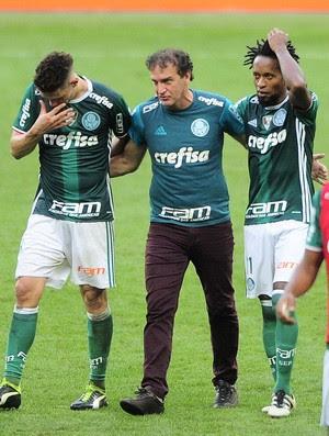 Moisés, Cuca e Zé Roberto Palmeiras (Foto: Marcos Ribolli)