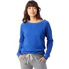 Alternative Women's Vintage French Terry Scrimmage Pullover Sweatshirt, Blue
