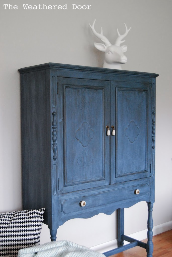 soldier blue cabinet WD-7