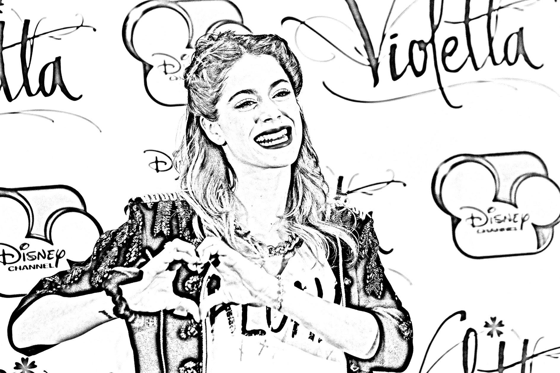 Dibujos Sin Colorear Dibujos De Violetta Disney Para: Dibujos Para Colorear Imprimir De Violetta
