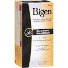 Bigen Permanent Powder Hair Color, Black Brown 58 - 0.21 oz box
