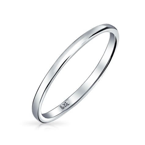 Classic Basic 925 Sterling Silver Very Thin Wedding Band