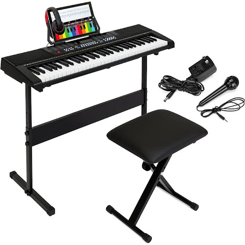 Best Choice Products 61-Key Beginner Electronic Keyboard Piano Set