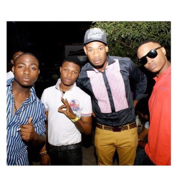 Check Out Davido, Wizkid, D'Prince & Sina Rambo In One Epic Throwback Photo