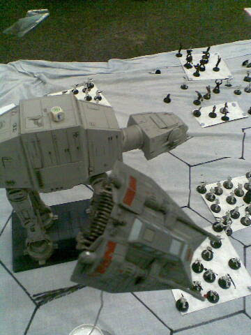 Speeder peels off to make another attack