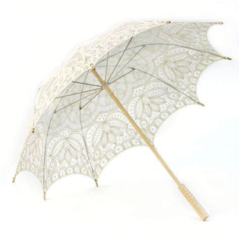 Victorian Lace Parasol Umbrella   Ivory [404837