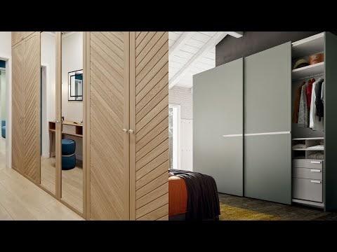 Sliding wardrobe interiors design for bedroom