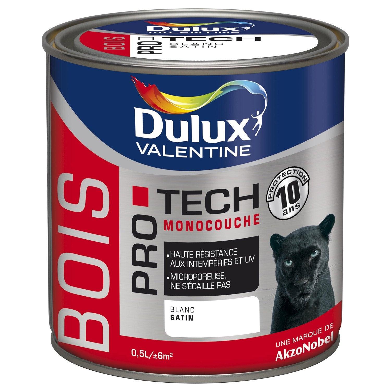 Peinture Bois Extérieur Protech Dulux Valentine Blanc 05 L