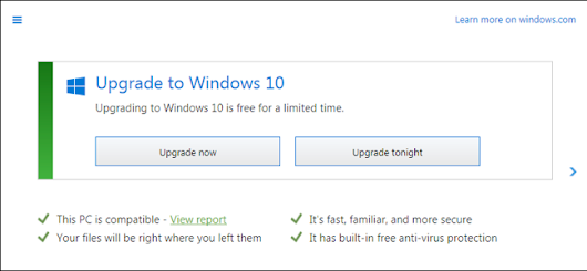 Upgrade Now or Upgrade Tonight: How Microsoft Has Aggressively Pushed Windows 10 to Everyone
