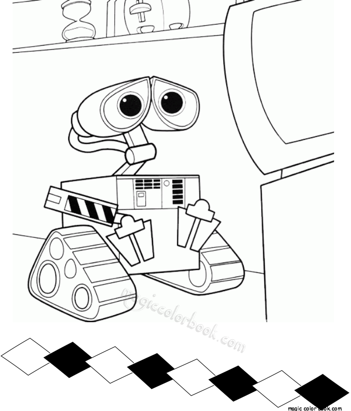 Coloring And Drawing Wall E Home Coloring Pages For Kids Printable Free