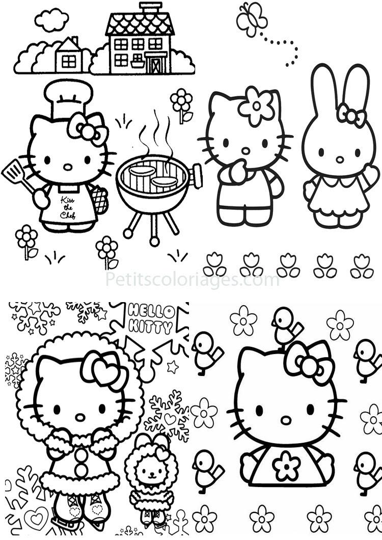 Inspiration coloriage kitty a imprimer des milliers de coloriage imprimable gratuit images hd - Coloriage hello kitty fleurs ...