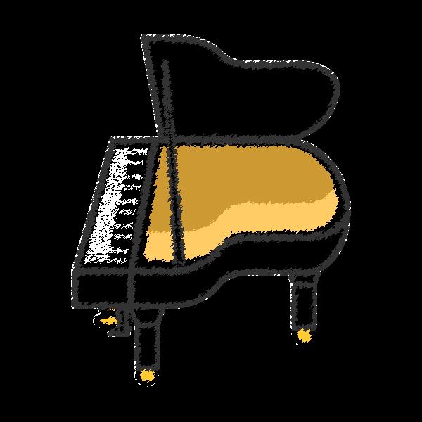 手書き風でかわいいピアノの無料イラスト商用フリー オイデ43
