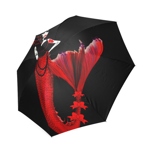 monique the queen of the mermaids Foldable Umbrella
