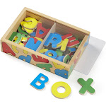 Melissa & Doug Alphabet Wooden Magnets Set - 52 Pieces