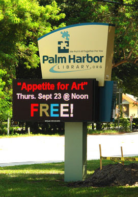 Palm Harbor Library Exterior Led Sign
