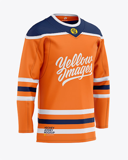 Download Mens Hockey Jersey Front Half-Side View Jersey Mockup PSD ...