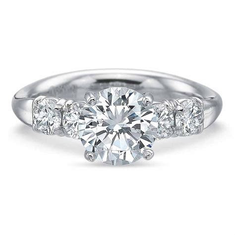 Platinum Five Stone Engagement Ring   Long's Jewelers