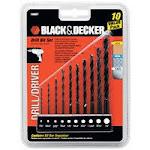 Black & Decker 15557 10 Pieces Drill Bit Set .06.75 In.