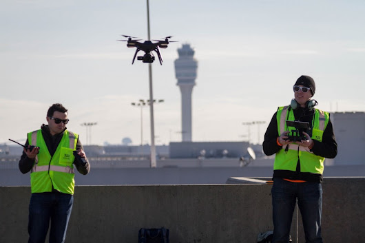 3D Robotics legally flew a UAV in a major class B airport (the busiest airport in the world) for the first time.