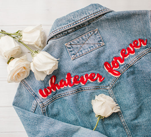DIY: Hand Embroidered Denim